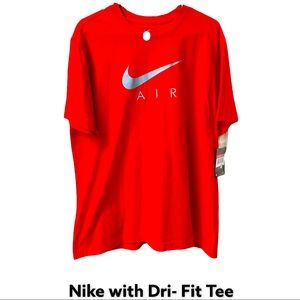 New Red & Gray Nike Tee
